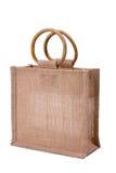 Bolso de compras de lino Foto de archivo libre de regalías