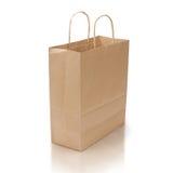 Bolso de compras en blanco Foto de archivo libre de regalías