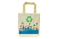 Bolso de compras hecho fuera de los materiales reciclados Fotografía de archivo libre de regalías