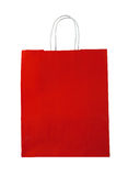 Bolso de compras rojo Imagen de archivo libre de regalías