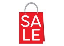 Bolso de compras rojo Fotos de archivo libres de regalías