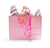 Bolso de compras rosado imagen de archivo libre de regalías