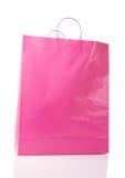 Bolso de compras rosado Imágenes de archivo libres de regalías
