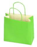 Bolso de compras verde Imágenes de archivo libres de regalías