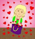 Bolso de corazones Imagen de archivo libre de regalías