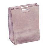 Bolso de cuero aislado en blanco Fotos de archivo libres de regalías