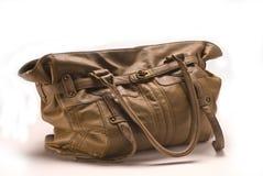 Bolso de cuero de Brown Fotografía de archivo libre de regalías