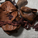 Bolso de cuero de Brown Imagenes de archivo