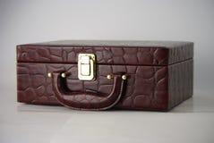 bolso de cuero de la piel de la maleta del cocodrilo Imagen de archivo libre de regalías