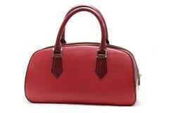Bolso de cuero falso rojo de la mujer Fotografía de archivo libre de regalías