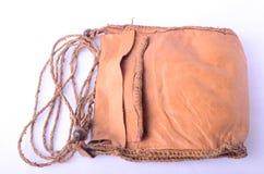 Bolso de cuero natural hecho a mano en Egipto Imagen de archivo