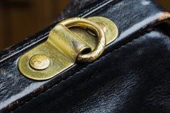 Bolso de cuero negro Imágenes de archivo libres de regalías