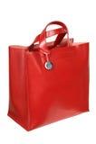 Bolso de cuero rojo Imágenes de archivo libres de regalías