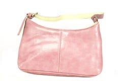 Bolso de cuero rosado foto de archivo