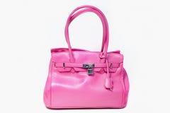 Bolso de cuero rosado Imágenes de archivo libres de regalías