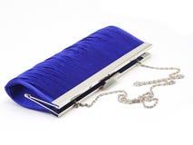 Bolso de embrague femenino azul marino Fotografía de archivo