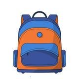 Bolso de escuela colorido Fotografía de archivo libre de regalías