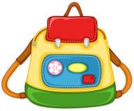 Bolso de escuela para el cabrito Imagen de archivo libre de regalías