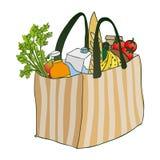 Bolso de la comida Imagen de archivo libre de regalías