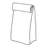 Bolso de la comida Bolso de papel del almuerzo, paquete envase Fotos de archivo