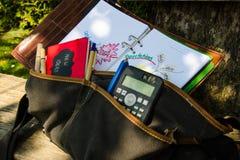 Bolso de la materia textil por completo de ideas creativas fotografía de archivo libre de regalías