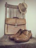 Bolso de la moda del vintage, zapatos, sombrero, accesorios Fotos de archivo libres de regalías