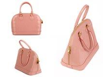 Bolso de la mujer rosada Fotografía de archivo libre de regalías