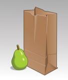 Bolso de la pera y de Brown Fotos de archivo