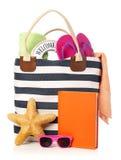 Bolso de la playa Imagen de archivo libre de regalías