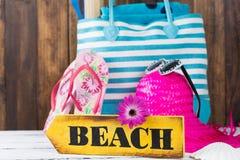 Bolso de la playa Imagen de archivo