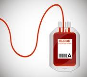 Bolso de la sangre aislado en blanco Foto de archivo