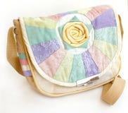 Bolso de la tela hecho a mano con una decoración Imagen de archivo