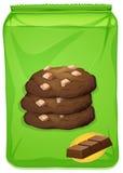 Bolso de las galletas del chocolate Fotografía de archivo libre de regalías
