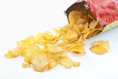 Bolso de las patatas fritas Foto de archivo libre de regalías