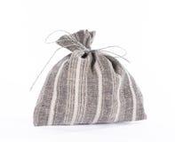 Bolso de lino del regalo del estilo tradicional. Imagenes de archivo