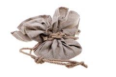 Bolso de lino grande Imágenes de archivo libres de regalías