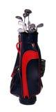 Bolso de los clubs de golf Imágenes de archivo libres de regalías