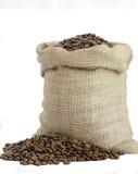 Bolso de los granos de café Imagenes de archivo