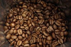 Bolso de los granos de café foto de archivo