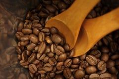 Bolso de los granos de café fotografía de archivo