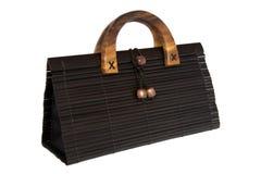 Bolso de mano de bambú Fotos de archivo