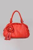 Bolso de mano rojo de las mujeres Foto de archivo