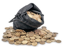 Bolso de monedas Imagen de archivo libre de regalías