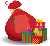Bolso de Papá Noel stock de ilustración