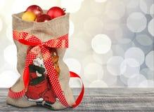 Bolso de Papá Noel Imagen de archivo libre de regalías