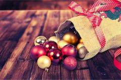 Bolso de Papá Noel Foto de archivo libre de regalías