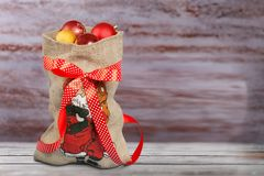Bolso de Papá Noel Imagen de archivo
