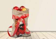 Bolso de Papá Noel Fotos de archivo libres de regalías