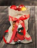 Bolso de Papá Noel Imágenes de archivo libres de regalías