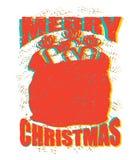 Bolso de Papá Noel con estilo del grunge de los regalos Saco grande por Año Nuevo Espray Fotografía de archivo libre de regalías
